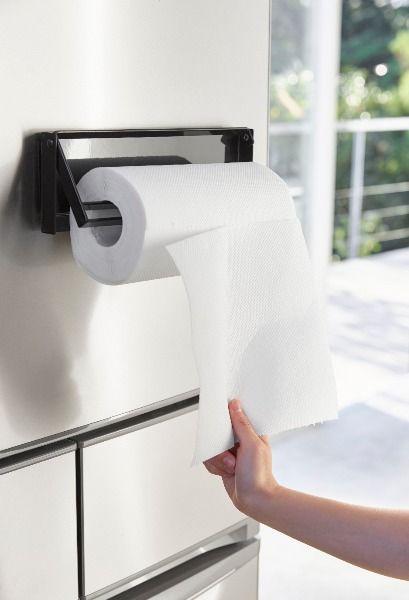 冷蔵庫に強力マグネットで簡単取り付け 片手でカットできるマグネット