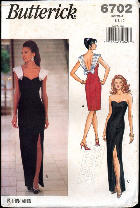 90s Butterick 6702 Fitted, Boned