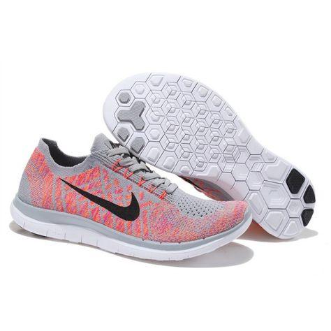 c3a7c90481d9 Nike-Free-4.0-Flyknit-Women s-Running-Shoe-Gray-Pink