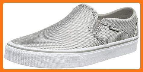 92f7591c981703 Vans Women s Asher Slip-on shoes Sneakers (Textile) Silver White