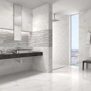 Piastrella Per Rivestimenti Murano 30 5 X 56 Cm Sp 8 Mm Bianco
