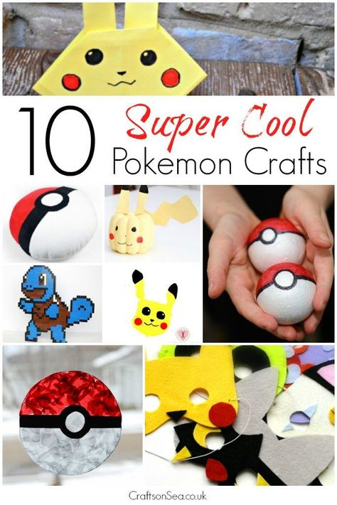 Kids playing Pokemon Go?! Get them to have a break (and you too!) but still have loads of fun with these awesome Pokemon crafts.