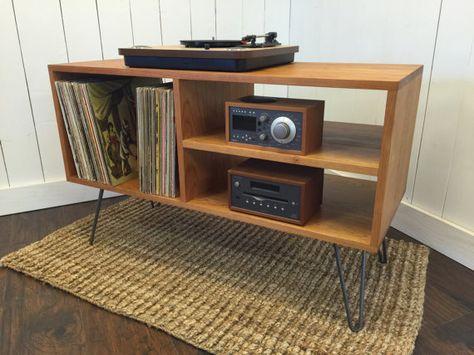 New mid century modern record player console turntable New house - deko ideen f amp uuml r wohnzimmer