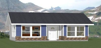 34x24 House 1 Bedroom 1 Bath 785 Sq Ft Pdf Floor Plan Model 1 Cabin Floor Plans Floor Plans