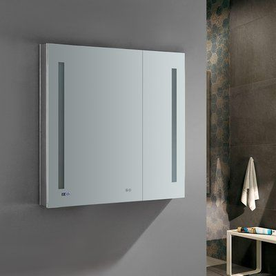 Fresca Tiempo Recessed Or Surface Mount Frameless Medicine Cabinet