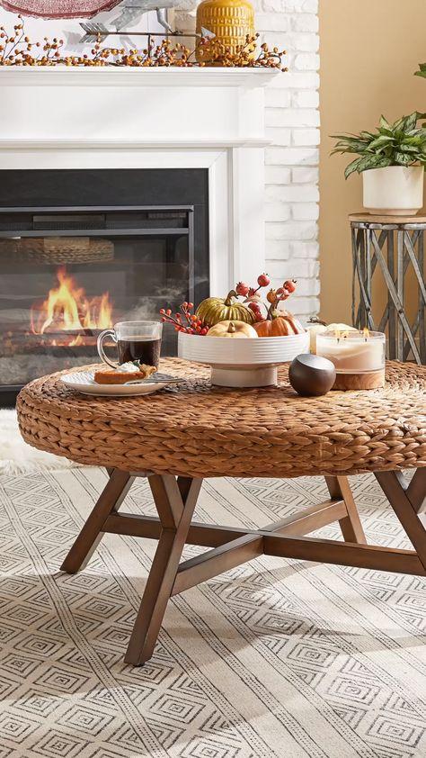 Carson Carrington Moisakula Brown Round Coffee Table