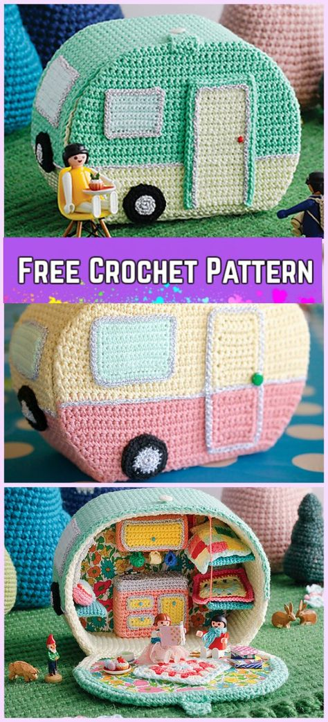 New Photographs amigurumi free pattern car Tips Crochet Mini Vintage Caravan Free Pattern patterns Vintage Crochet Patterns, Crochet Patterns Amigurumi, Crochet Dolls, Knitting Patterns, Sewing Patterns, Crochet Gifts, Cute Crochet, Crochet For Kids, Crochet Baby