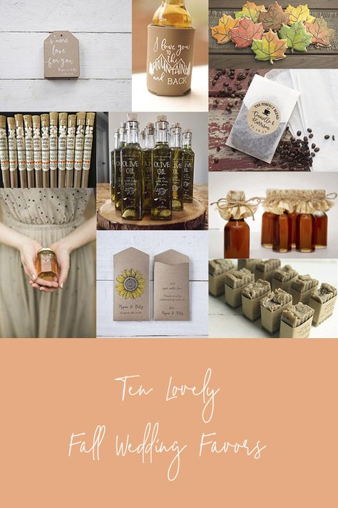 Check out these ten lovely wedding favors for your guests. All found on Etsy of course because we love supporting other Etsy shops. #fallweddingfavors #etsyshops #weddingfavors #weddingideas #fallweddings