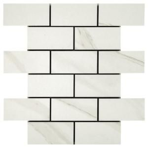 Marazzi Luxecraft 11 In X 12 In X 6 35mm White Ceramic Picket Mosaic Wall Tile 0 73 Sq Ft Piece Lc1525pic In 2020 Mosaic Wall Tiles Mosaic Flooring Mosaic Wall