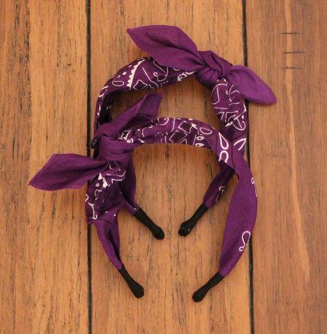 Purple Bandana Headband 32c42d5b874