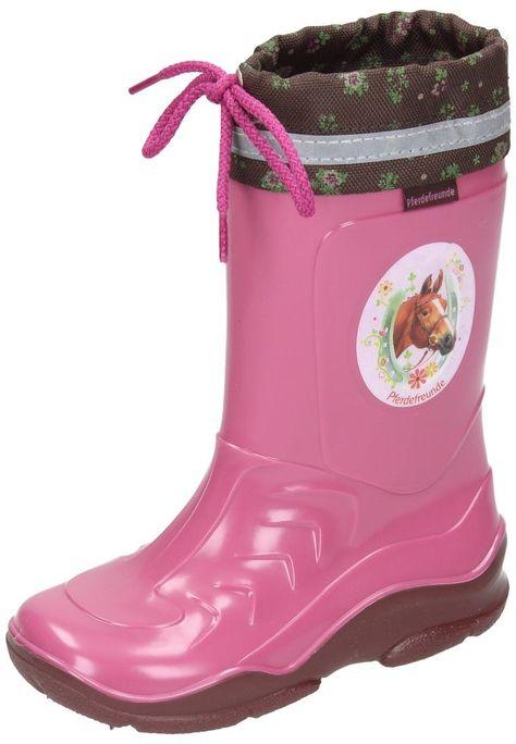 Pferdefreunde Girls Rain Boots Brown