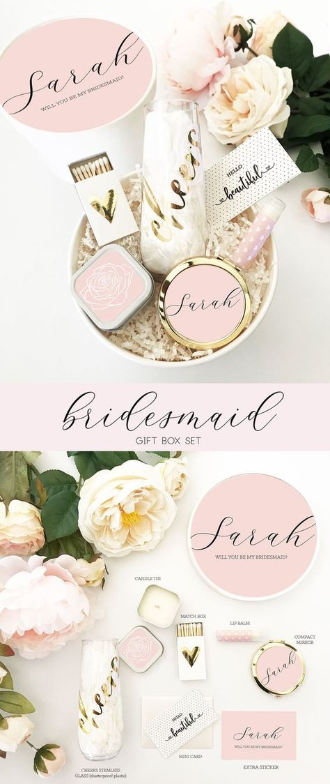 List Of Pinterest Asking Bridesmaids To Be In Wedding Box Etsy
