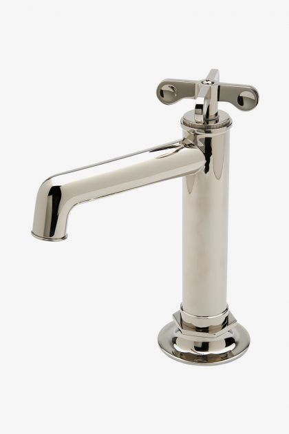Henry One Hole High Profile Bar Faucet Metal Cross Handle Bar
