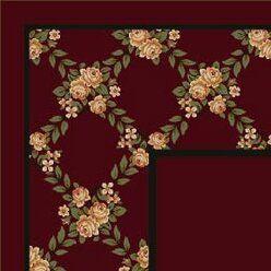 Winston Porter Kelesia Cranberry Rose Bower Area Rug Rug Size Rectangle 7 8 X 10 9 Area Rugs Blue Area Rugs Rugs