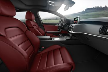 Cuir Nappa Rouge Kia Stinger Kia Red Interior Car