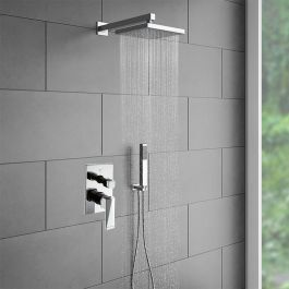 Juno Shower Head Set With Handheld Shower In 2020 Shower Heads