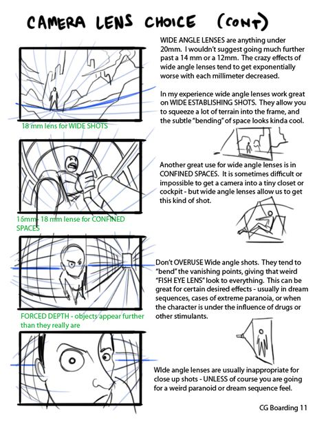 Camera Lens Choice! These are some guides I did specifically for the Green Lantern Animated Series. I learned most of my knowledge of CG camera lenses while working on Clone Wars (with Maya). I could...