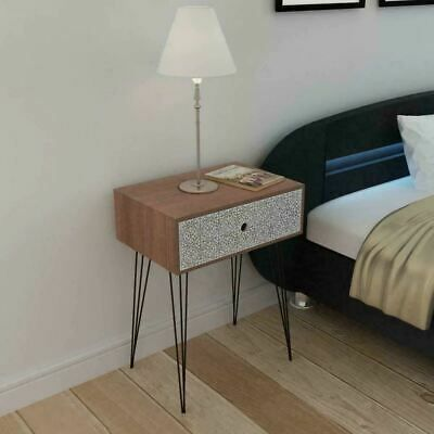 Details About Retro Bedside Table Storage Cabinet Bedroom Night