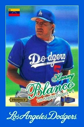97 Henry Blanco Los Angeles Dodgers Debuto El 25 De Julio De 1997 Dodgers Los Angeles Dodgers Baseball Season