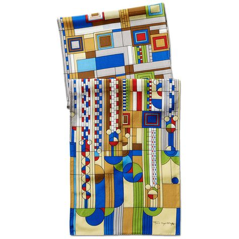 This scarf features a lively abstraction of the desert landscape originally created along with other illustrations for the cover of Liberty magazine in 1927.