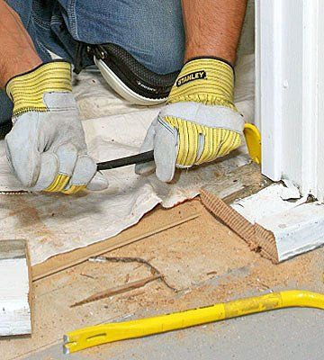 The Best Way To Replace A Door Sill And Threshold Door Weather Stripping Diy Home Repair Home Design Diy