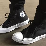 Sepatu Converse All Star Ct Ii High Black White Premium Original