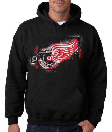 THE SPIRIT OF DETROIT CHARCOAL CREW NECK Motor City Sweatshirt Lions Red Mi