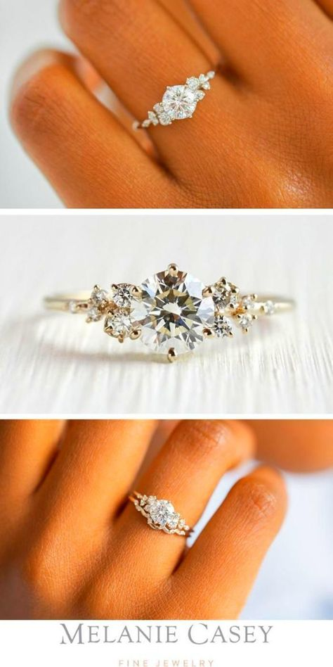 Dream Engagement Rings, Rose Gold Engagement, Engagement Ring Settings, Delicate Engagement Ring, Round Diamond Engagement Rings, Morganite Engagement, Most Beautiful Engagement Rings, Designer Engagement Rings, Vintage Inspired Engagement Rings
