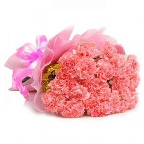Pink Carnation Flowers Bouquet In Patna 1230 Online Flower Delivery Flower Delivery Carnation Flower