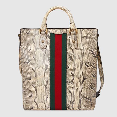 2085654568a3 Web Animalier python tote   Men s fashion   Pinterest   Gucci, Bags ...