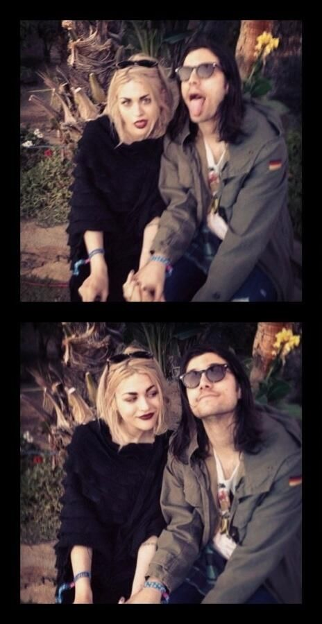 Frances Bean Cobain and her boyfriend (who awkwardly looks really alike her dad)