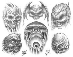 Demonic Tattoo Designs For Men Demon Skulls Tattoo Designs