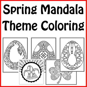 Spring Holiday Theme Mandala Coloring Book April Fool S Easter