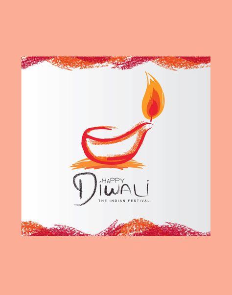 Modern Diwali Vector Download Diwali Vector Handmade Diwali Greeting Cards Diwali Cards
