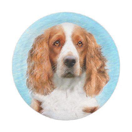 Welsh Springer Spaniel Painting Original Dog Art Paper Plate Zazzle Com Dog Art Original Paintings Dog Portraits