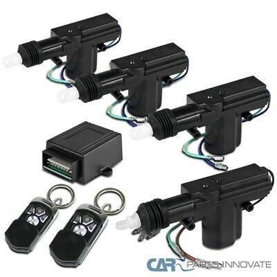 4 Door Power Central Lock Kit Car Remote Control Conversion W 2 Keyless Entry In 2020 Door Lock System Unlock Car Door Keyless Entry