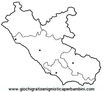 Cartina Lazio.Map Lazio Disegni Da Colorare Disegni Da Colorare Disegni Immagini