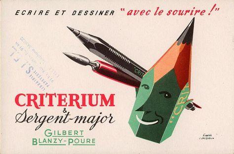 Reclame Pour Le Porte Mine Criterium Les Plumes Sergent Major Et