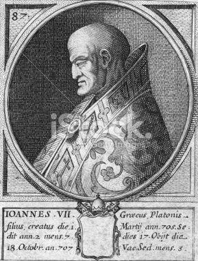 Resultado de imagen para Juan VII (705-707)
