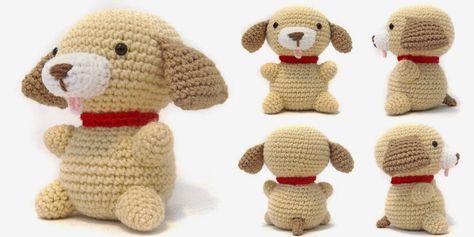 Puppy - Free Amigurumi Pattern here: http://icrochetthings.blogspot.com.es/2015/01/free-pattern-friday-puppy-amigurumi.html