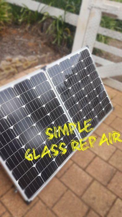 Broken Solar Panel Glass Repair Simple Glass Repair Solar Panels Repair
