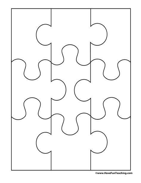 Blank Puzzle 9 Pieces Puzzle Piece Crafts Puzzle Piece