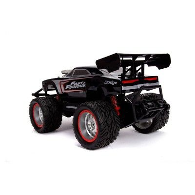 Jada Toys Fast Furious Elite Off Road Rc 1970 Dodge Charger R T Remote Control Vehicle With Light Up Logo 1 12 Scale Glossy Black Dodge Charger Offroad Dodge