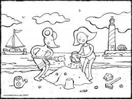 Eine Sandburg Bauen Kiddimalseite Sandburg Ausmalbilder Zeichnungen