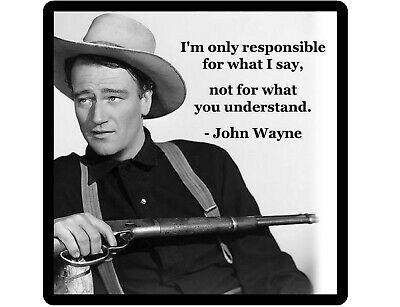 John Wayne Responsible Quote Refrigerator Tool Box Magnet John Wayne Quotes John Wayne Wayne