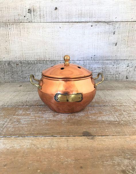 Simmering Pot Potpourri Pot Copper Brass Simmer Pot Copper Pot