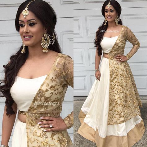 My bride Anna looked stunning for her pre wedding event in this super trendy lengha from 😍👌