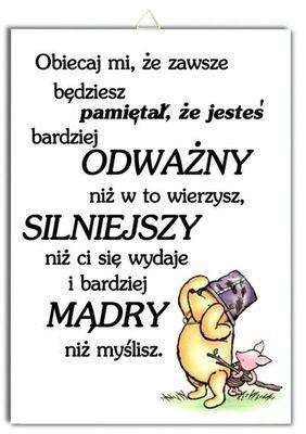 Plakat Kubus Puchatek Cytat Napis Milosc Tesknota 7622324837 Oficjalne Archiwum Allegro True Quotes Words Mood Quotes
