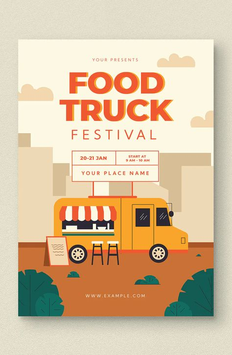 Food Truck Flyer Pack PSD, AI
