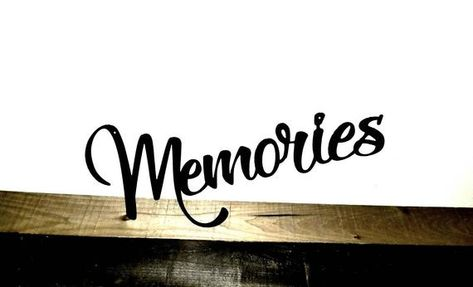 Memories Sign - Metal Word Art - Picture Wall Decor - Travel Gifts ...
